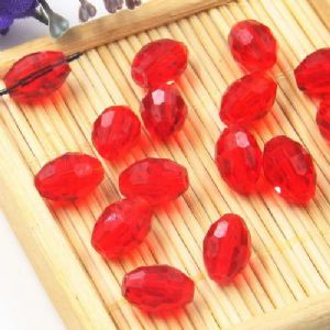 Beads, Auralescent Crystal, Crystal, Pinkish red , Faceted Oval, 8mm x 8mm x 12mm, 1 bead [Sold Individually], [ZZC264]